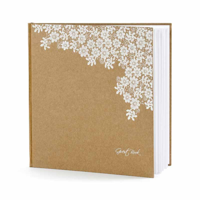 Livre D'or Kraft & Fleurs Blanches