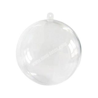 x1 Boule de Noel Transparente 8 cm