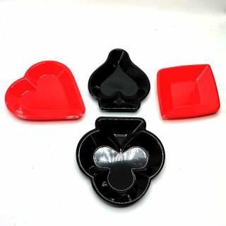 x48 assiettes jetables POKER trèfles pique coeur carreau