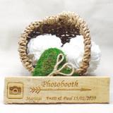 Pancarte mariage Photobooth personnalisé en bois