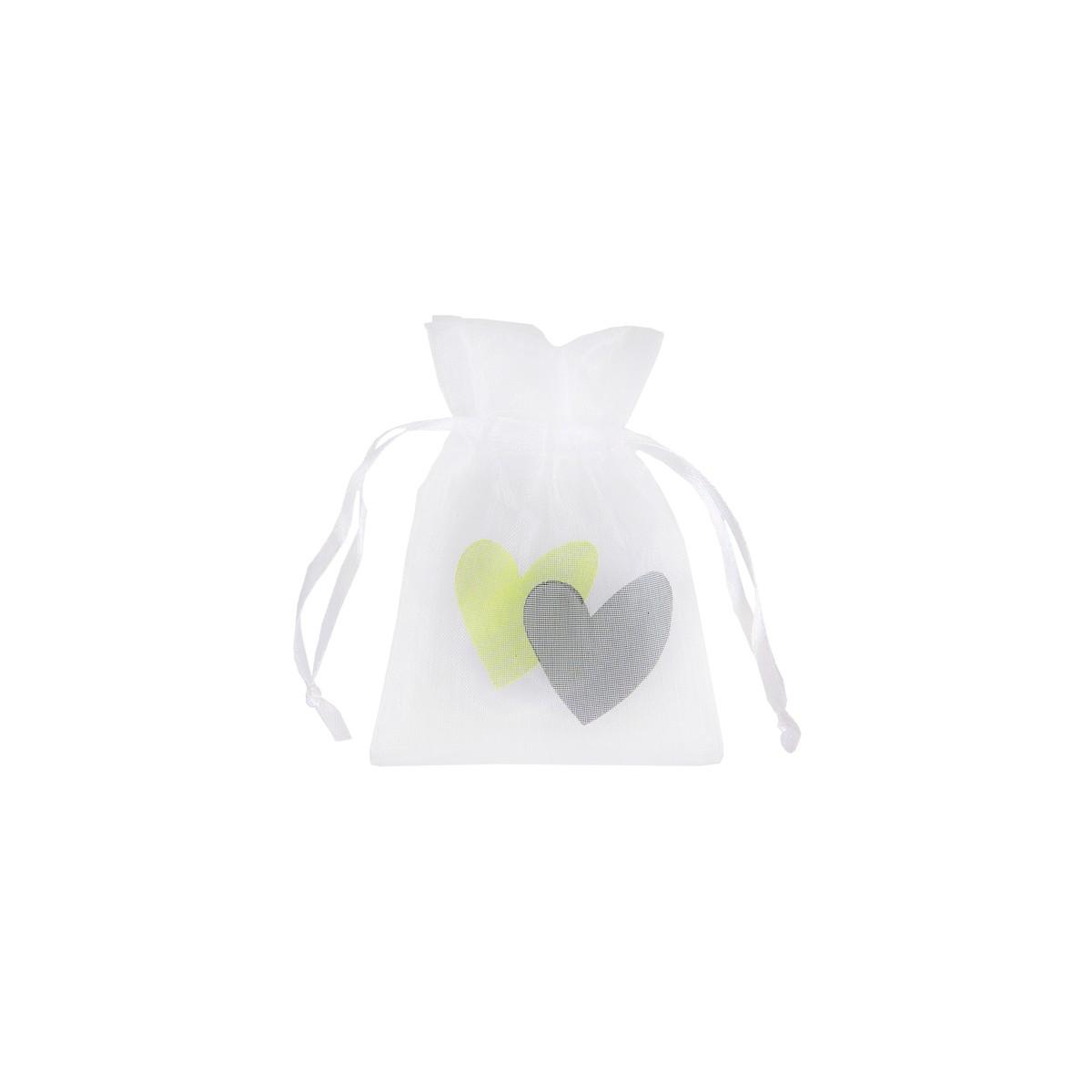 Sachet Dragées Coeur Vert x 6