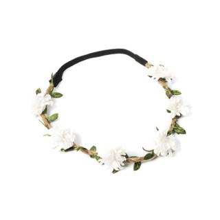 Headband Mariage Champêtre Fleurs Blanches