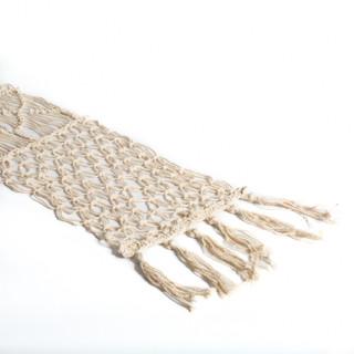 Chemin de table Macrame coton ivoire 30 cm x 3 m