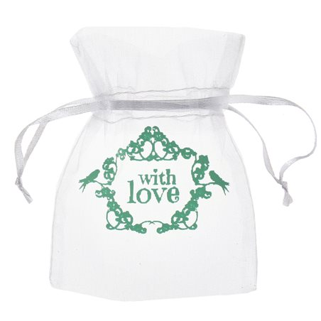 Sachet dragées With Love Vert x 10