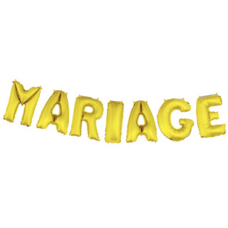 Ballon lettre Mariage or