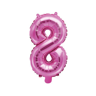 Ballon Chiffre 8 Rose Foncé