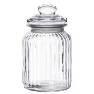 Bonbonnière en verre vintage 19 x 11 cm