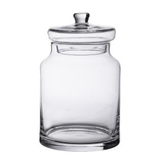 Bonbonnière en verre candy jar 18 x 11.5 cm