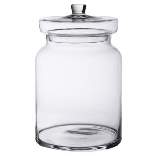 Bonbonnière en verre candy jar 24.5 x 16 cm