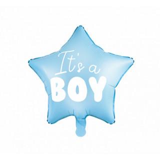 "Ballon hélium ""It's a boy"" Bleu 45 cm"