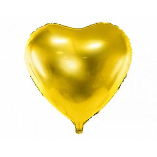 Ballon Mylar Coeur Or