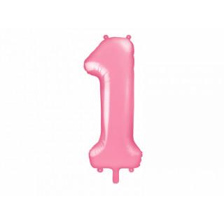 Ballon Chiffre 1 Rose pâle