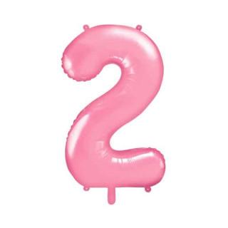 Ballon Chiffre 2 Rose pâle