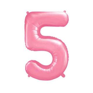 Ballon Chiffre 5 Rose pâle