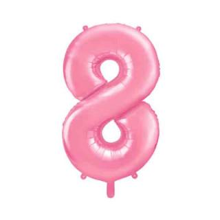 Ballon Chiffre 8 Rose pâle