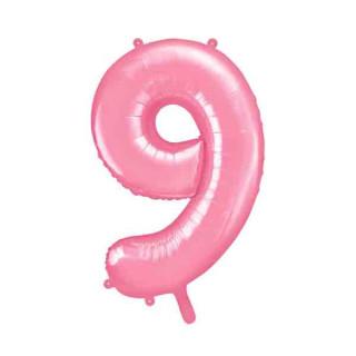 Ballon Chiffre 9 Rose pâle