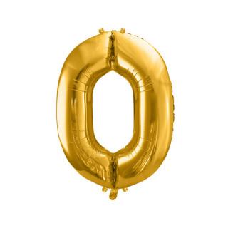Ballon Chiffre 0 Or 86cm
