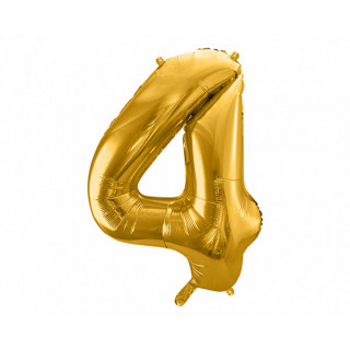 Ballon Chiffre 4 Or 86cm