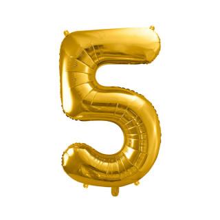 Ballon Chiffre 5 Or 86cm