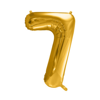 Ballon Chiffre 7 Or 86cm