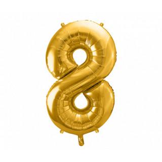 Ballon Chiffre 8 Or 86cm