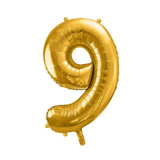 Ballon Chiffre 9 Or 86cm