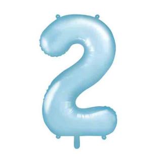 Ballon Chiffre 2 Bleu ciel