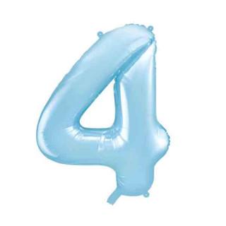 Ballon Chiffre 4 Bleu ciel