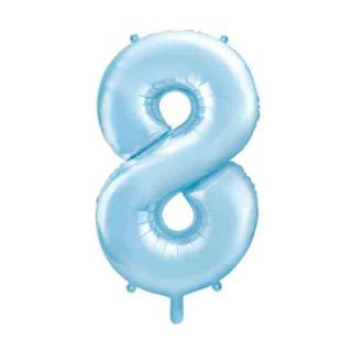 Ballon Chiffre 8 Bleu ciel 86cm