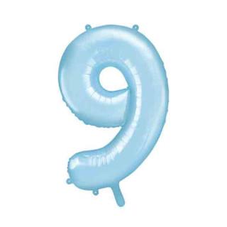 Ballon Chiffre 9 Bleu ciel 86cm