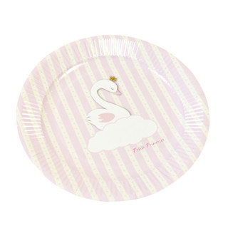x6 Assiettes Roses Babyshower