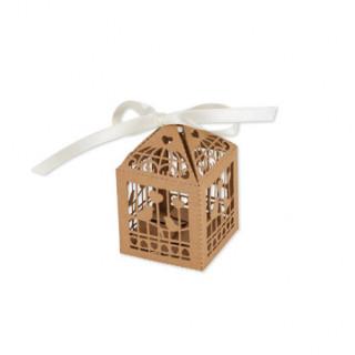 Mini cage dragees oiseau Kraft x20