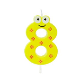 Bougie 8 ans jaune