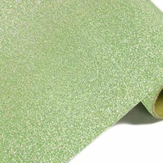 Chemin de table pailleté vert