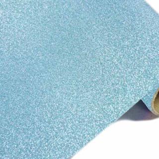 Chemin de table pailleté turquoise