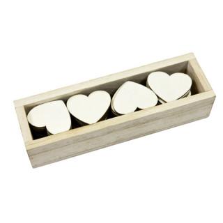 x48 coeurs en bois