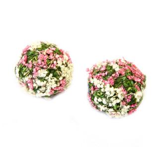 x4 Boules décoratives fleurs