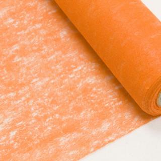 Chemin de table Orange Intissé en rouleau 10m x 29cm