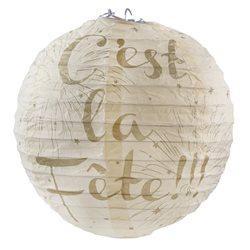 Lanterne papier C'est La Fete Ivoire x 2