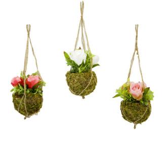 x3 pots de fleurs à suspendre