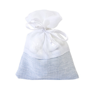x5 Sachets en tissu bleu et blanc