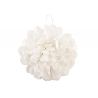 Boule Fleurs Tissu Ivoire - 20 cm