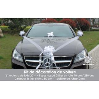 Kit Déco voiture Mariage Tulle