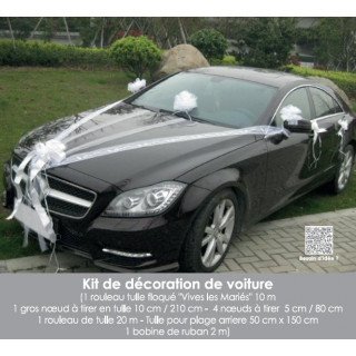 Kit luxe déco voiture Mariage