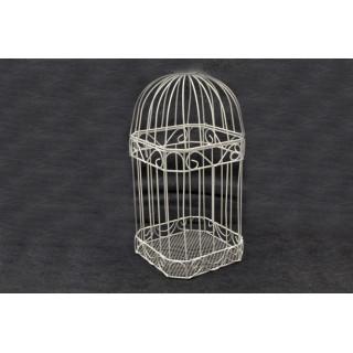 Cage carte de voeux blanche