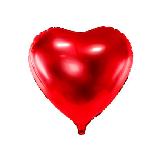 Ballon coeur rouge brillant