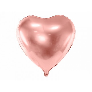 Ballon coeur rose gold brillant
