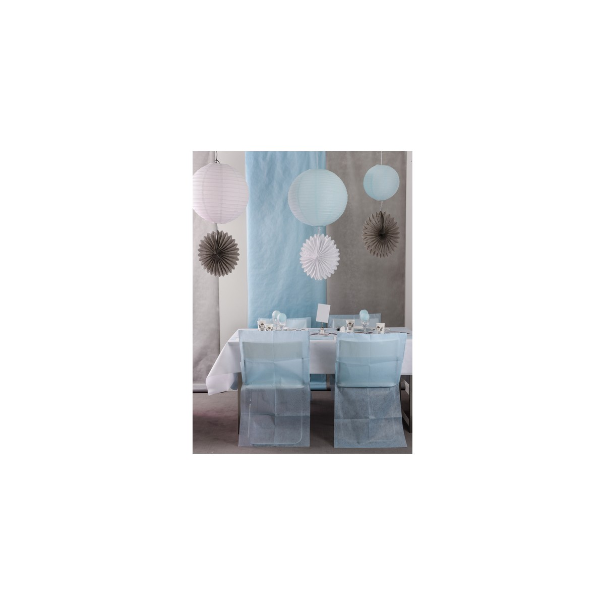 Housse de Chaise Bleu x 10