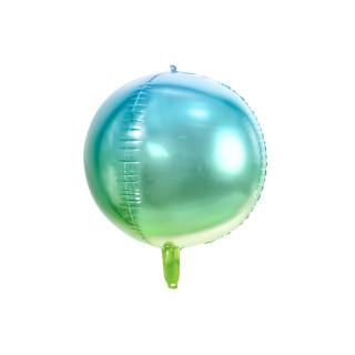 Ballon Mylar dégradé bleu vert