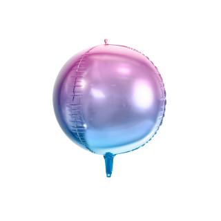 Ballon Mylar dégradé bleu violet